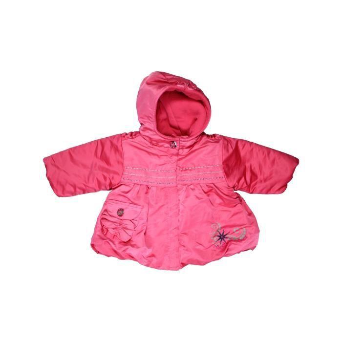 92d31f3da1a18 Manteau bébé fille MARÈSE 6 mois rose hiver - vêtement bébé  1063216 ...