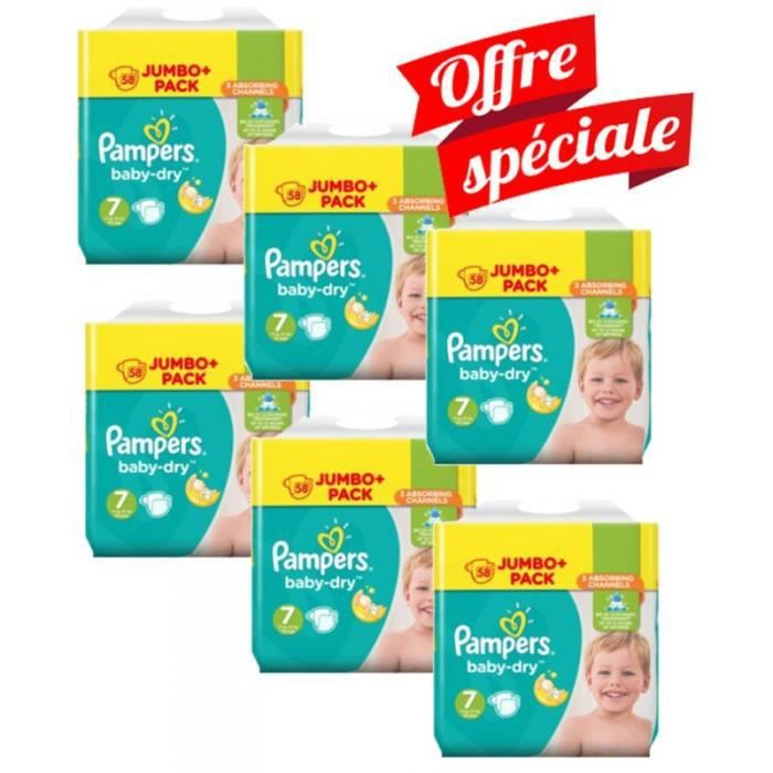 Maxi Mega Pack 224 Couches Pampers Baby Dry Taille 7 Achat Vente