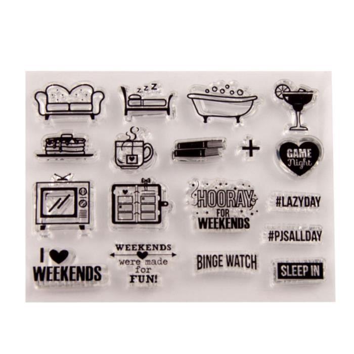 TIMBRE Timbre clair timbres de sceau transparent pour bri