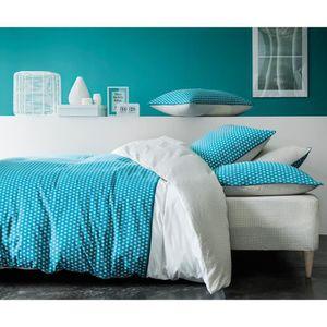 housse de couette bleu canard achat vente housse de. Black Bedroom Furniture Sets. Home Design Ideas