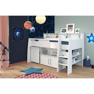 lit mezzanine enfant avec bureau achat vente pas cher. Black Bedroom Furniture Sets. Home Design Ideas