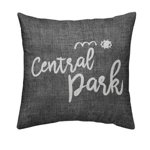 TODAY Coussin déhoussable Chambray Coton CENTRAL PARK - 40x40cm