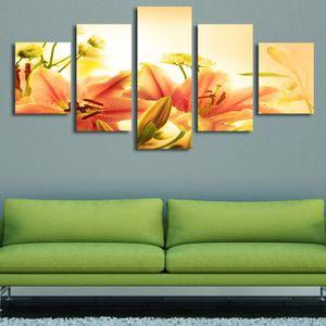 Cinq lutte jaune orange vert laisse belle chambre décoration moderne ...