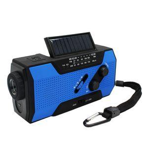 CHAISE Manivelle solaire radio AM FM pour lampe de poche