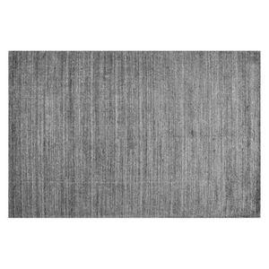 TAPIS Tapis en laine et fibre Stone gris 200x300 - Toule