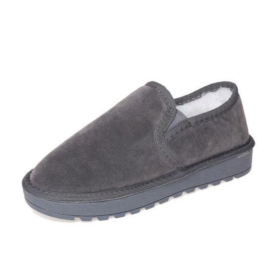 Lazy Hotskynie®mode Bordée Bottes De Plates Xym61010908gy38 Gris Fourrure Bottines Chaud Neige Chaussures Femme D'hiver YYrPgRn
