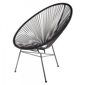 fauteuil de jardin design scoobidoo couleur noir achat vente fauteuil jardin fauteuil design. Black Bedroom Furniture Sets. Home Design Ideas