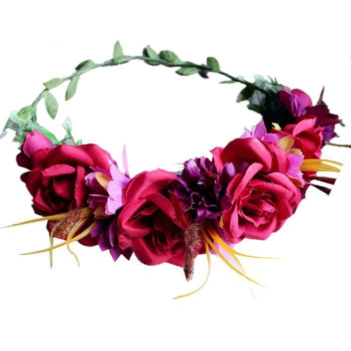 couronne fleur couronne mariage accessoire cheveux