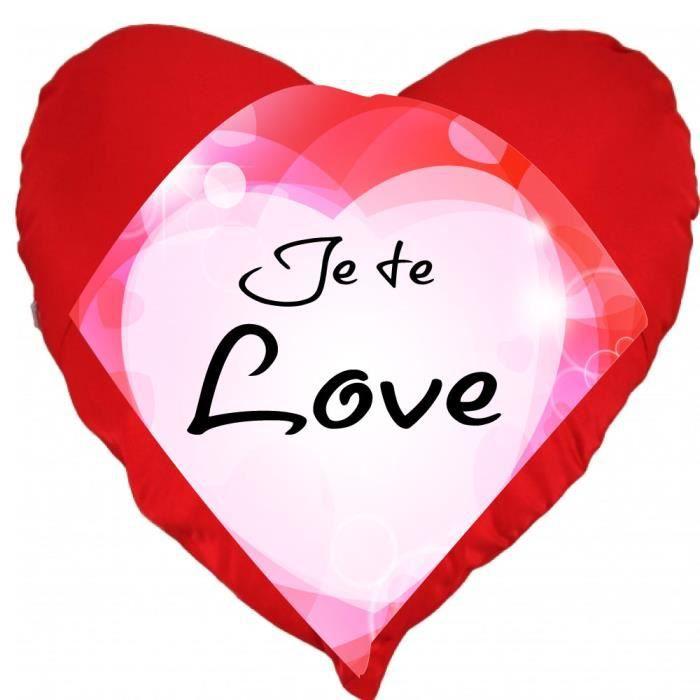 Carte Cdiscount St Valentin.Coussin St Valentin Coeur Je Te Love Un Cadeau Ideal Pour La Saint Valentin