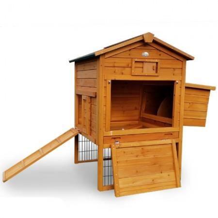 poulailler en bois 2/4 poules lbh jardin - lodge