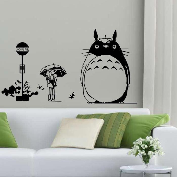 dessin anim japonais totoro chinchilla stickers muraux. Black Bedroom Furniture Sets. Home Design Ideas