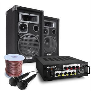 pack sono dj complet ampli 2 enceintes micros amplificateur hifi avis et prix pas cher. Black Bedroom Furniture Sets. Home Design Ideas
