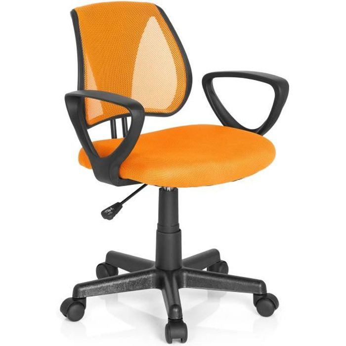 Cd Enfant Orange Chaise Tissu De Maille Bureau Siège Kiddy 0kOP8nw