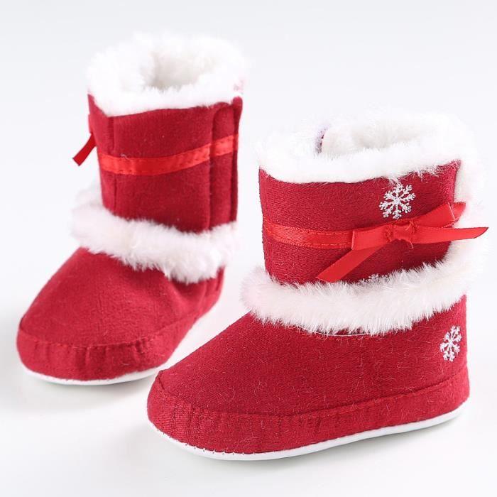 2016 Bottes de neige pour bébé Soft Soft Chaussures de crèche souple Bottes pour tout-petit rouge YSBAnAl