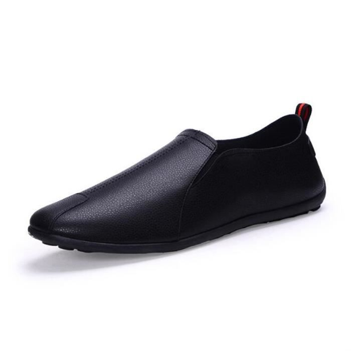 Marche Hommes PU Nouvelle Carrefour Mocassin Hommes Chaussures Plat Style Respirant Drivng Paresseux Casual Minimaliste Loisirs Doux qCa6C