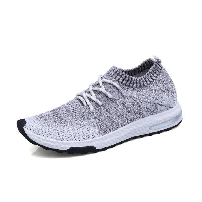 Chaussures De Sport Pour Hommes en daim Textile De Course Populaire TYS-XZ124Blanc42 OHqNO4r