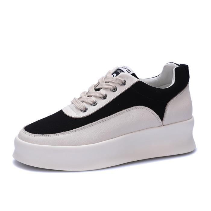 Trendy chaussures occasionnelles 2018 nouvelles chaussures de plate-forme épaisse sauvage