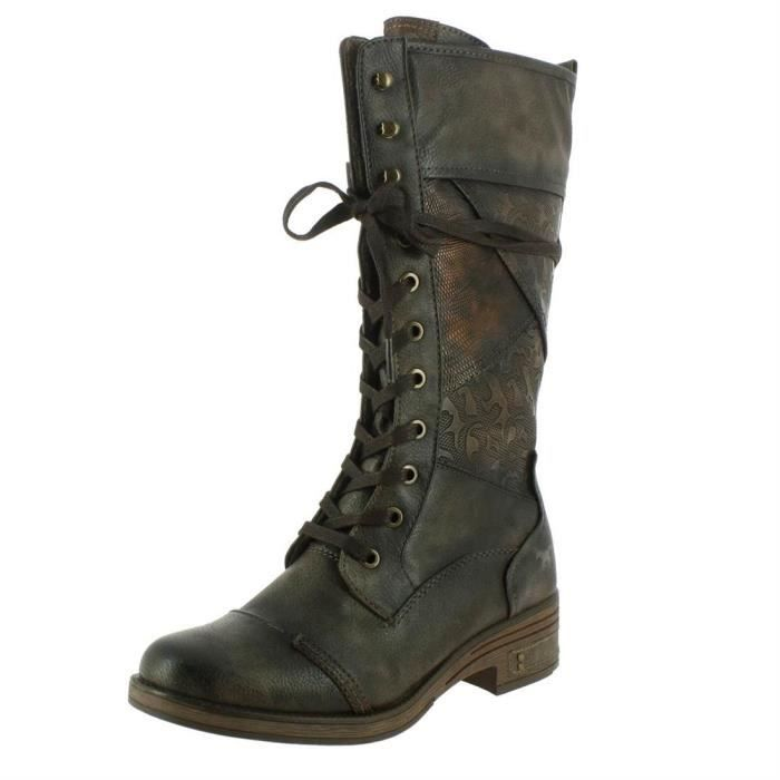 Bottes 1293-505 femme mustang 1293-505 Cigare - Achat   Vente ... 2a535765469b