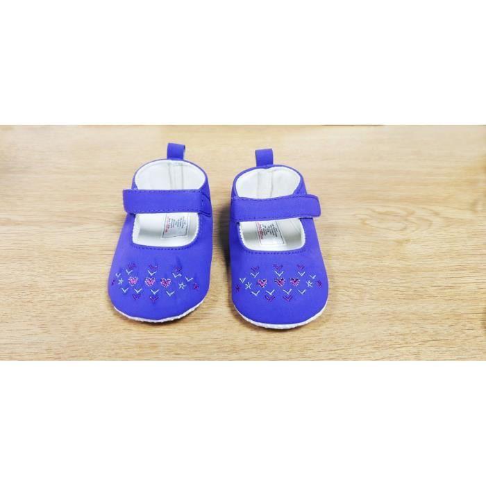c441f36ded1c4 Chaussures Bébé Fille - Pré marche (0-6 mois) Violet Violet - Achat ...