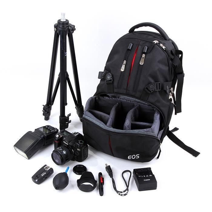 le nouveau sac de cam ra d 39 paule professionnel canon nikon slr num rique sac dos sac photo. Black Bedroom Furniture Sets. Home Design Ideas