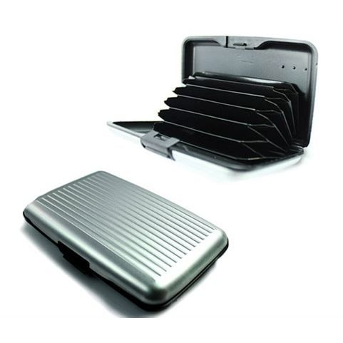 PorteCartes Aluminium Argent Argent Achat Vente Porte Carte - Porte carte aluminium