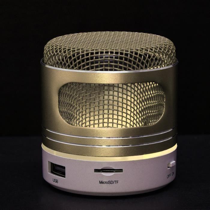 Mini Haut-parleur Bluetooth Usb Sans Fil Led Portable Music Box Caisson De Graves Petit Starhope333