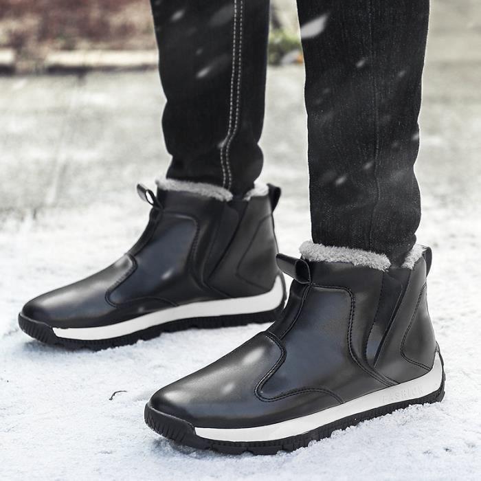 Bottes de neige d'hiver Bottes d'homme Bottes de coton Bottes Martin Bottes britanniques