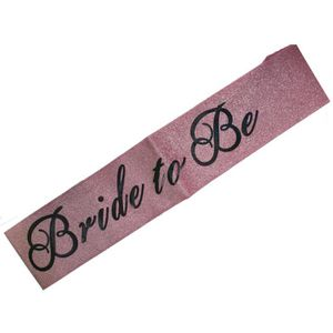 BADGES - PIN'S Hen Night Pink Glitter Bride To Be  Sash Hen Party