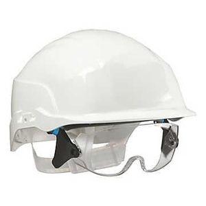 Casque chantier avec lunette achat vente casque - Lunette de chantier ...