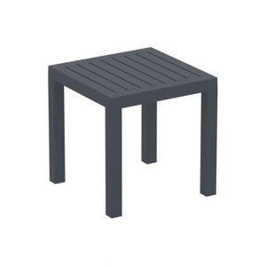 Table de jardin en plastique gris - Achat / Vente Table de jardin en ...