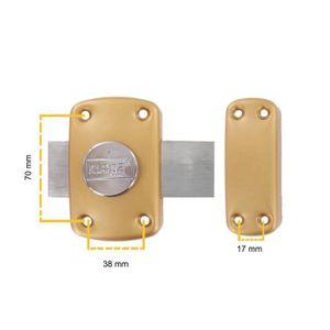 SERRURE - BARILLET Verrou de sureté à bouton clefs variées C45 mm Klo