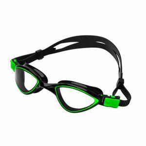 Lunettes de natation « Predator » anti-chlore 100% anti-UV + anti-buée  bande solide silicone lunettes de plongée sécurité. Vert 39d8bc950234