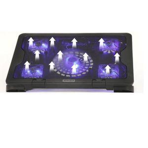 SUPPORT PC ET TABLETTE Bleu Lumière Super Cool 5 Fans 2 USB Refroidisseur