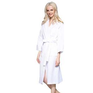 PEIGNOIR Peignoir de Bain Robes de SPA-Chambre en Coton Vêt
