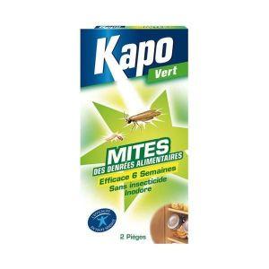 PIÈGE NUISIBLE MAISON Piège à mites alimentaire KAPO VERT. Etui de 2.