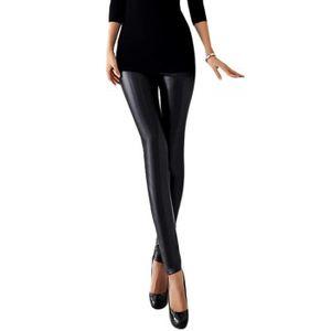 COLLANT SANS PIED Legging Noir métallique Femme