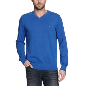 PULL TOMMY HILFIGER Pull col V Pacific - Homme - Bleu