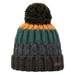 BONNET - CAGOULE BARTS - Bonnet pompon en maille marron vert Modèle a89491e7f50