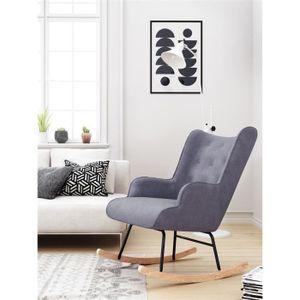 FAUTEUIL Fauteuil à bascule Rocking Chair  H92X100X68CM Gri