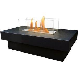 CHEMINÉE Une table de salon équipée d une cheminée bio-étha