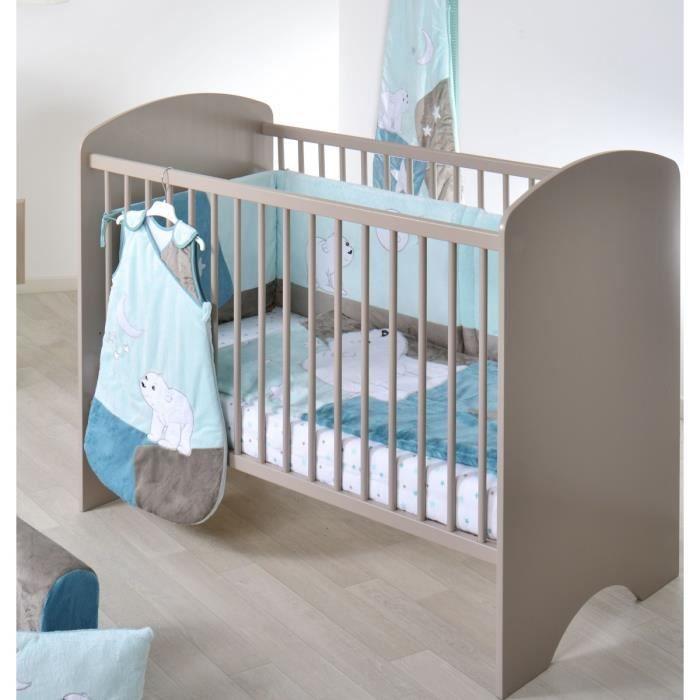 BROWNIES Lit Bébé à Barreaux 60x120 cm