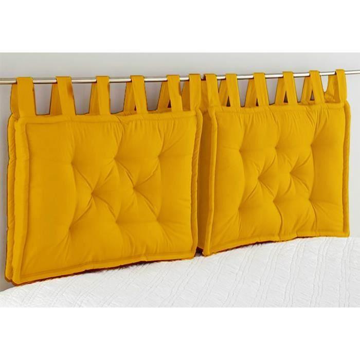 TODAY Tête de lit Coton GOA Safran - 50x70x8 cm