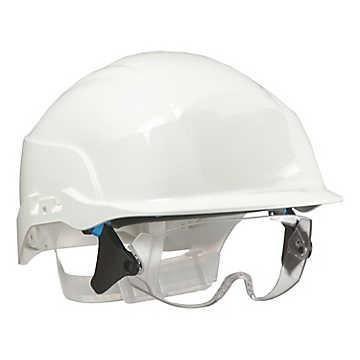 531a86ac1ddd20 Casque de chantier blanc avec sur-lunette BOUTON BH01 S20WRL-BH01 ...