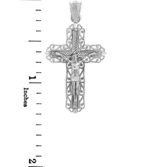 Collier PendentifArgent 925/1000 Collier Pendentif CrucifixLe Ever After Crucifix (vient avec une Chaîne de 45 cm)