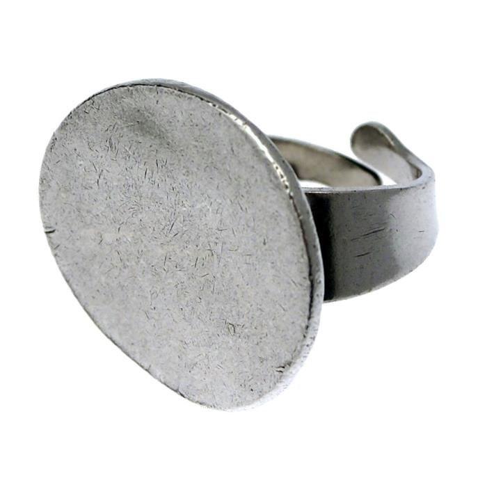 Taille Unique - Bague en métal argenté PASTILLE - Couleur Marketing : Gris - Composition : Métal