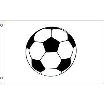 DRAPEAU - BANDEROLE Drapeau Ballon de football 150x90cm - Soccer Haute