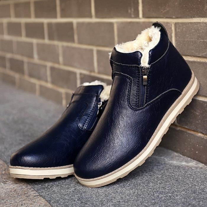 bleu Nouveaux bottes d'hiver des bottes hautes bottes de Martin aident coton occasionnels.