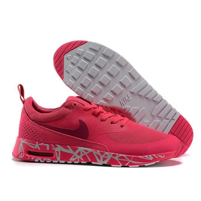 air max thea femme rouge