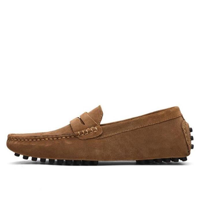 Moccasin hommes doux agréable En Cuir Chaussures randonnée rétro Nouvelle Mode De Marque De Luxe Durable Grande Re2zjwlZh