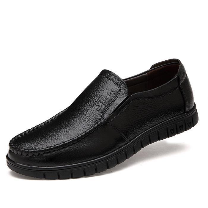 JOZSI Chaussures Hommes Cuir Confortable mode Homme chaussure de ville FXG-XZ196Noir38